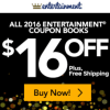 Save $16 + Free Shipping on the 2016 Entertainment Book