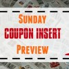 Sunday Newspaper Coupon Inserts for 10/21/18
