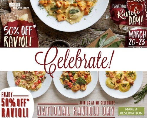 Brio Bravo National Ravioli Day