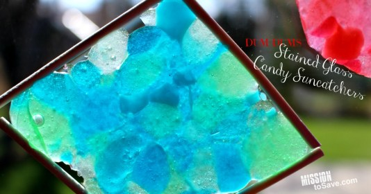 Make these colorful Dum Dums Stained Glass Candy Suncatchers. It's a sweet craft project for kids