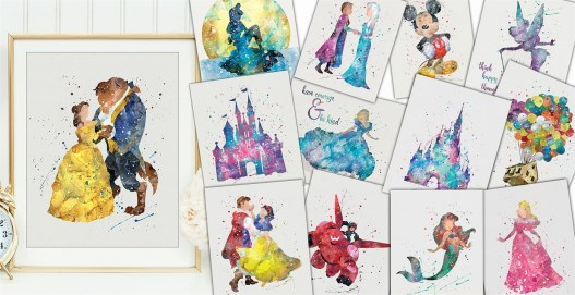 disney character inspired prints