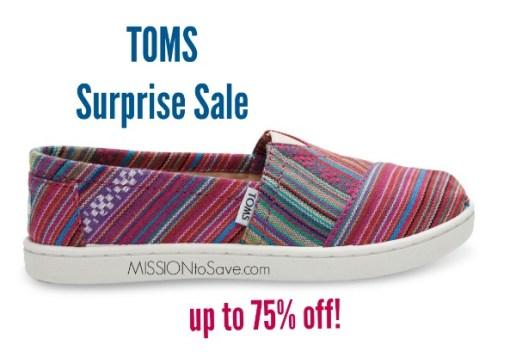 toms surprise sale