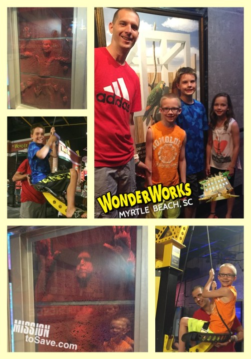 WonderWorks Fun in Myrtle Beach. Need a break from the sun when visiting Myrtle Beach? WonderWorks piqued our attention and did not disappoint! Check out our review of this great family friendly Myrtle Beach attraction.