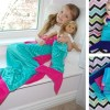 Little Girl's Mermaid Tail Blanket + Matching Doll Tail – Under $30 Shipped