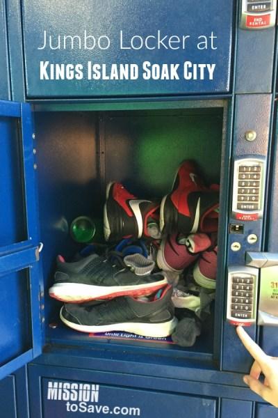 Jumbo locker at Kings Island Soak City