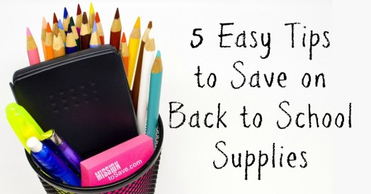 It's that time of year, it's time to go back to school. So here are some tips to help you save on back to school supplies shopping.