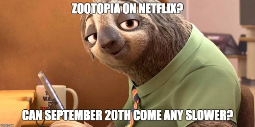 Starting in September of 2016 Disney comes to Netflix (Marvel, Lucas and Pixar too) What Disney movies are you looking forward to streaming on Netflix? It all starts with Zootopia!