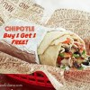 Buy One Get One FREE at Chipotle!