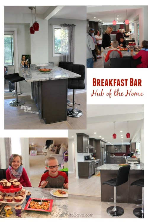 Are you are considering a kitchen remodel? If so, consider adding a kitchen island with breakfast bar. It's the hub of the home.