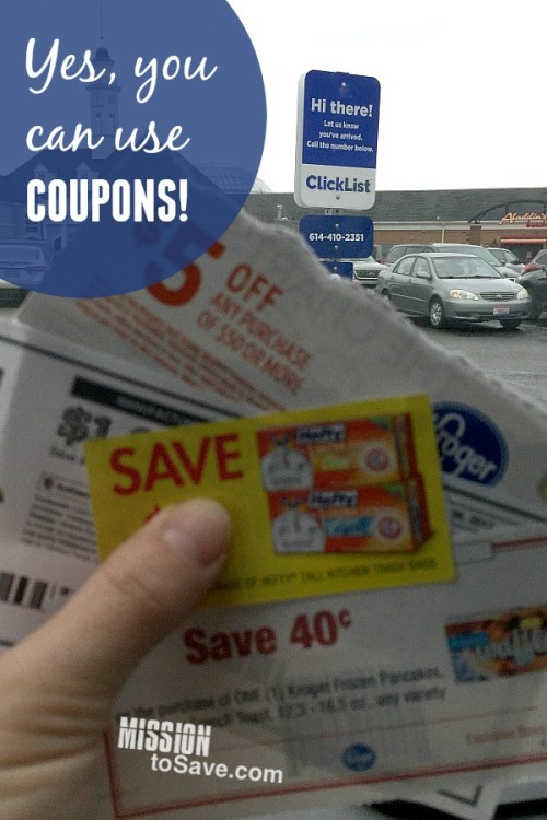 Kroger ClickList parking spot and coupons