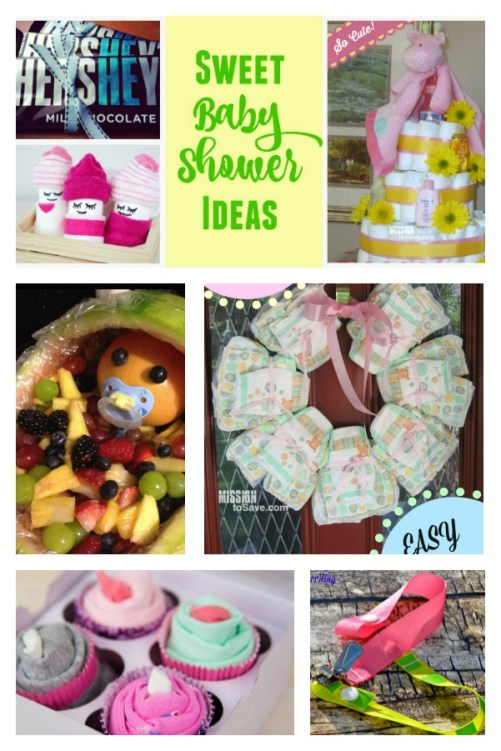 Check out this roundup of sweet baby shower ideas. Everything from decorations, food and gifts.