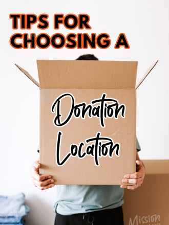 holding donations box