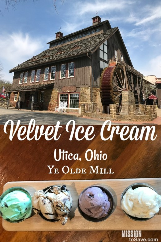 Velvet Ice Cream and Ye Old Mill in Utica Ohio