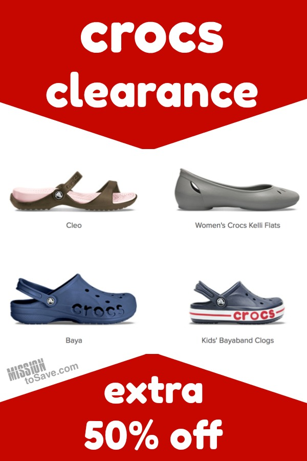 Crocs Clearance- Take Extra 50% Off