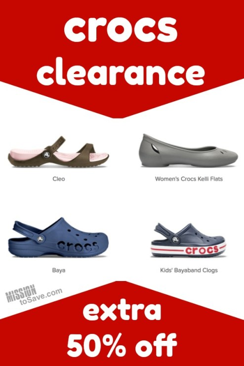 e1b392104 Crocs clearance extra 50% off! There are some really popular styles that  are already on clearance sale ...