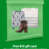 $10 Target Gift Card with $50 Clothing Purchase
