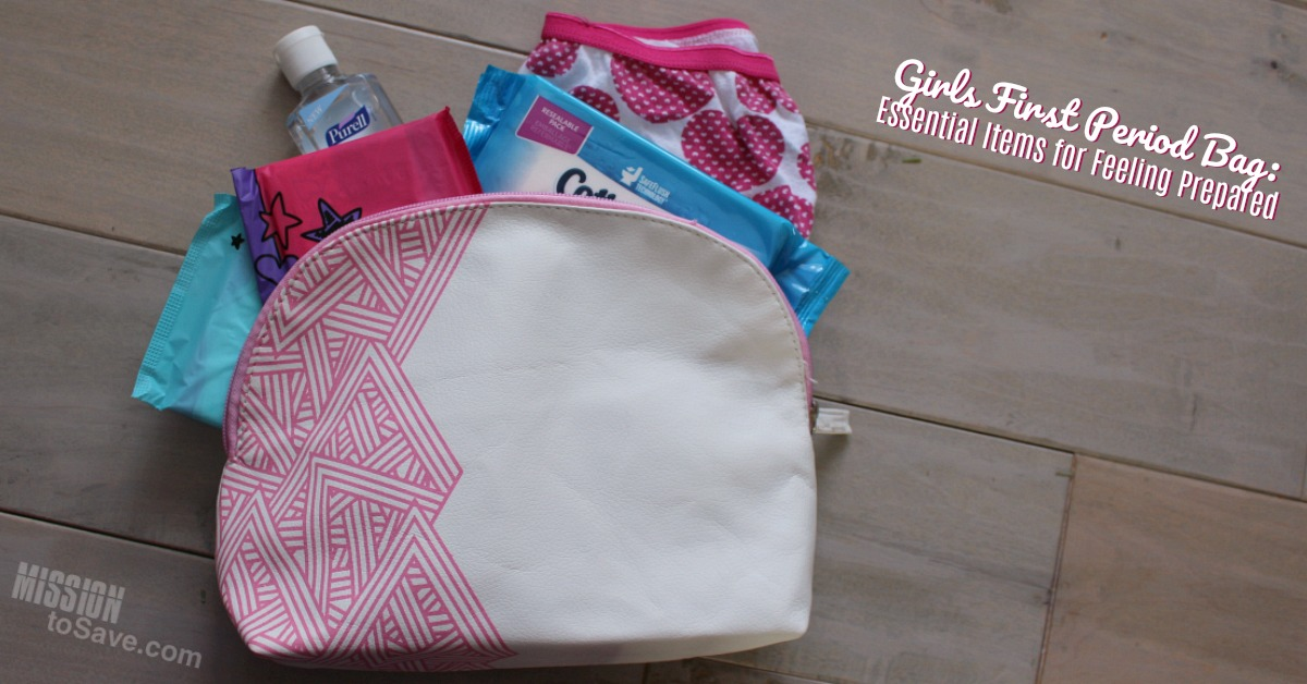 Girls First Period Bag: Essential Items for Feeling Prepared