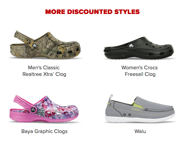 faba022e3 So it s also the perfect time for the CROCS SEMI-ANNUAL CLEARANCE SALE!  Take an extra 50% OFF Clearance Styles at ...