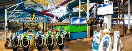 storm chaser water slide at Kalahari resort Sandusky