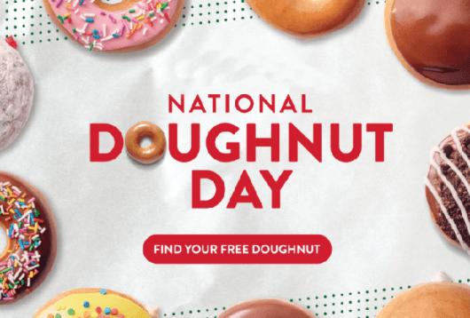 Krispy Kreme Calendar.Krispy Kreme National Doughnut Day Freebie On June 1st Mission To