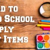 Hard to Find School Supply List Items