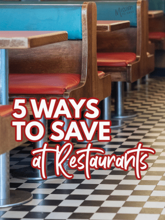 diner tables with text Ways to Save at Restaurants