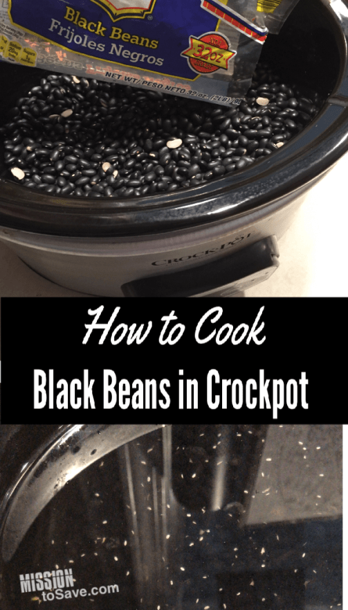 black beans in a crockpot