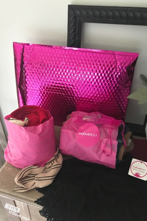 Pink Bag from Nadine West clothing subscription