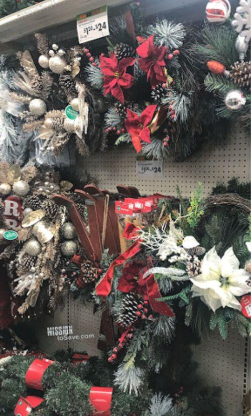 Garland and Wreaths at Big Lots