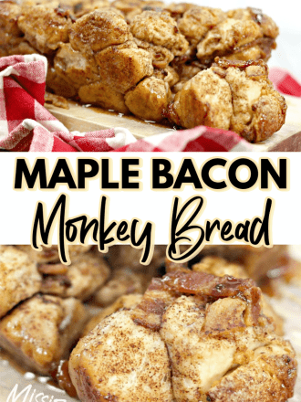 Maple Bacon Monkey Bread collage