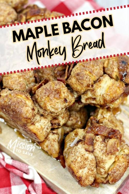 maple bacon monkey bread loaf