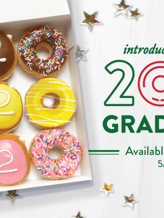 Graduation doughnuts from Krispy Kreme