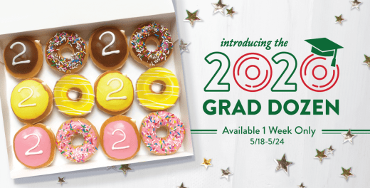 Graduation doughnuts from Krispy Kreme