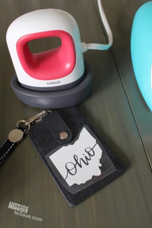 Cricut Mini Press to Iron On ID Badge