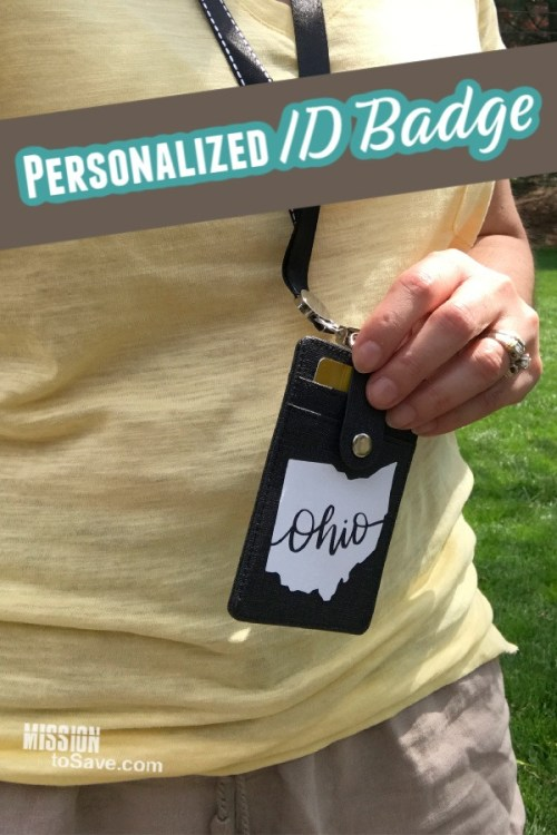 Add Iron On to Personalize an ID Badge