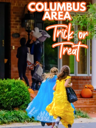 kids in halloween costumes trick or treat in columbus area