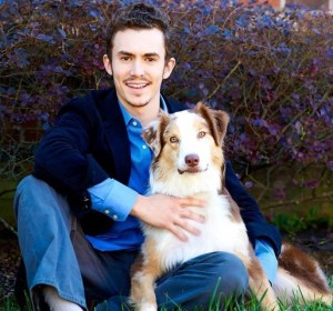 Luke and his dog, Rusty