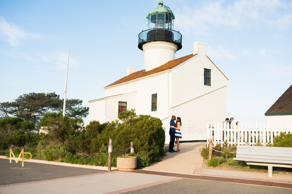 Point Loma San Diego, California sunset engagement session