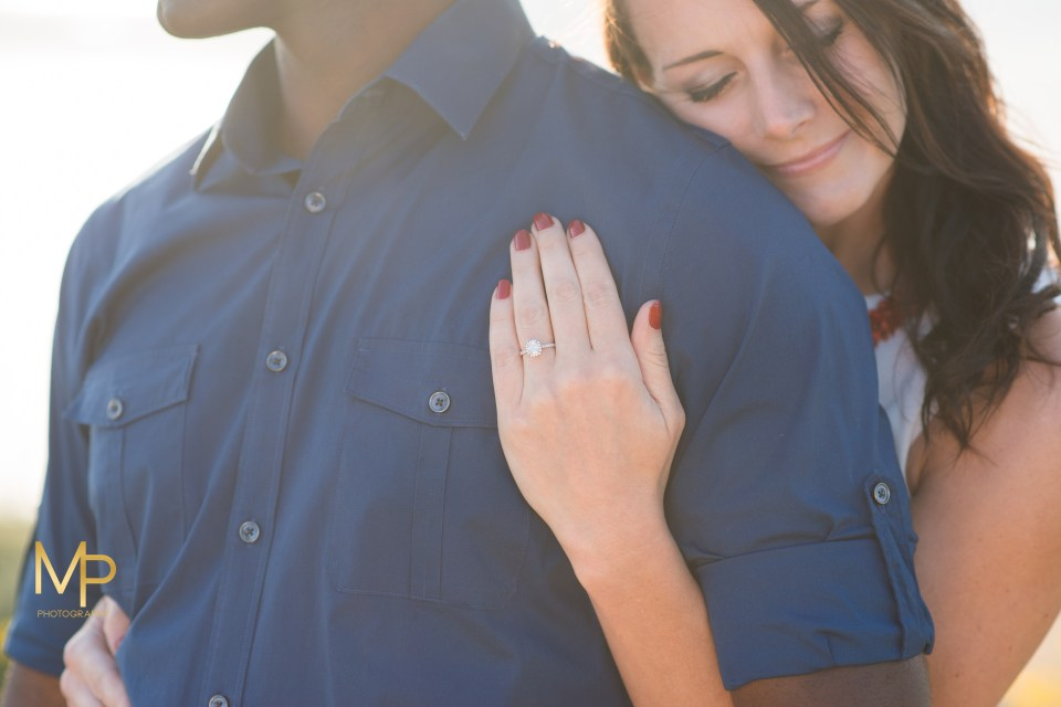 Sunset engagement session at Point Loma Lighthouse San Diego California