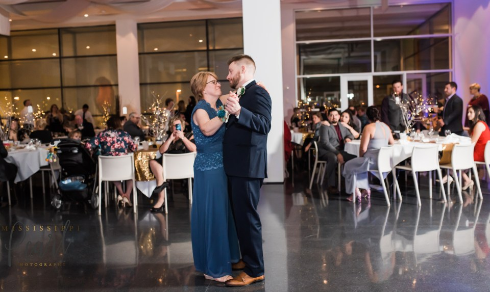 Mother and Broom dancing at a Figge Art Museum wedding