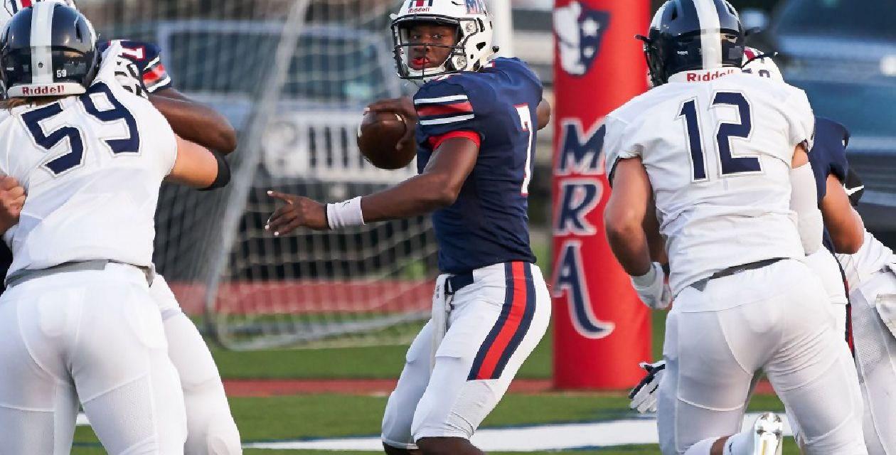 Short becomes star quarterback at MRA – by Mark Alexander