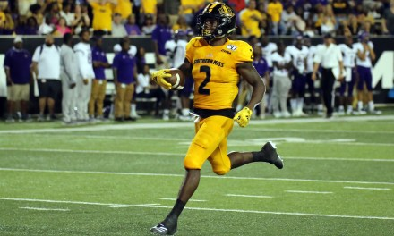 Southern Miss' Adams makes big splash in historic season opener