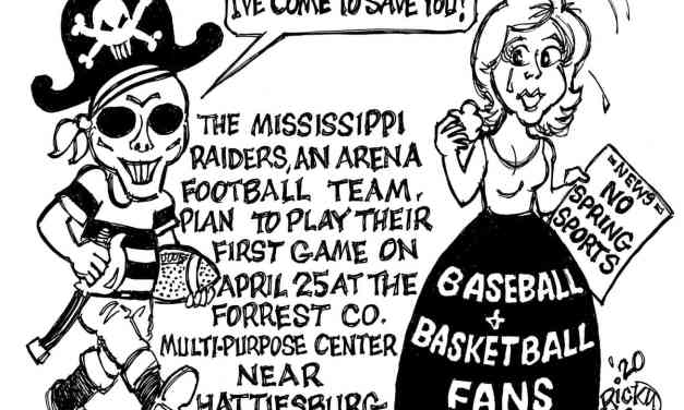 Arena Football to the Rescue – Cartoon by Ricky Nobile