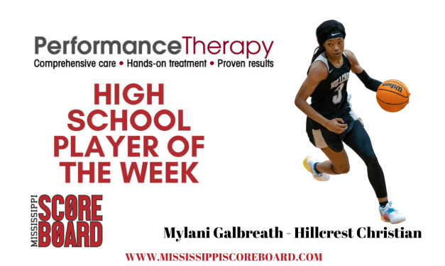 Performance Therapy Girls Player of the Week – 1-6