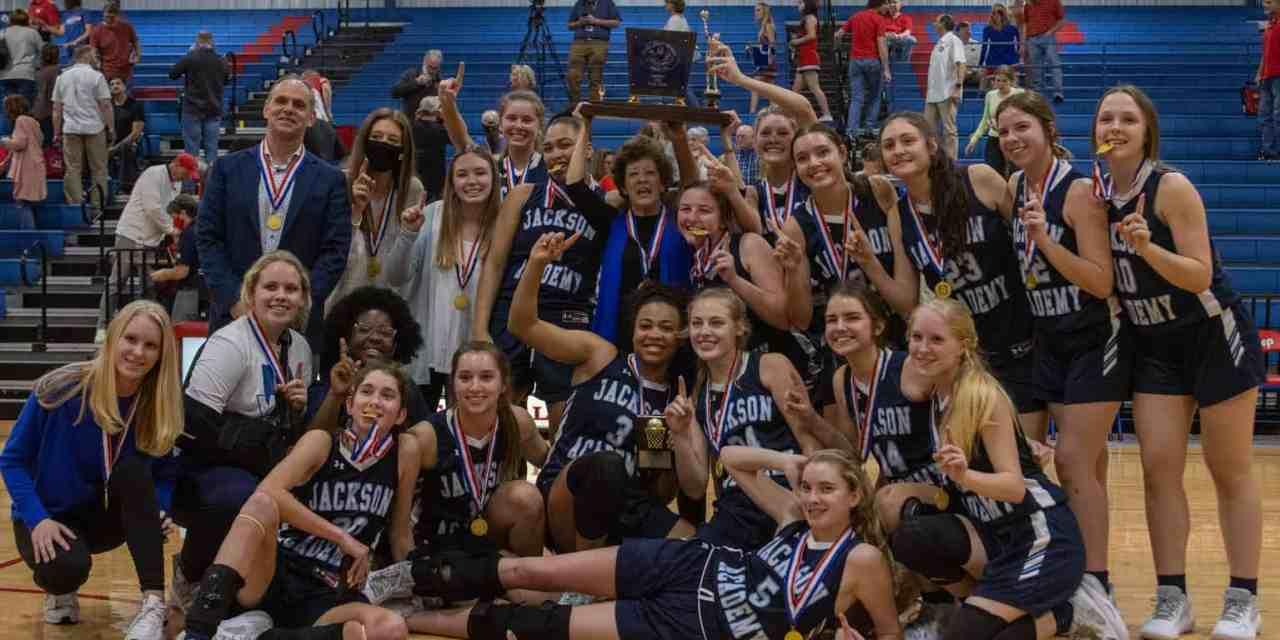 JACKSON ACADEMY GIRLS RALLY, EDGE JACKSON PREP FOR CLASS 5A STATE BASKETBALL CHAMPIONSHIP – By Robert Wilson