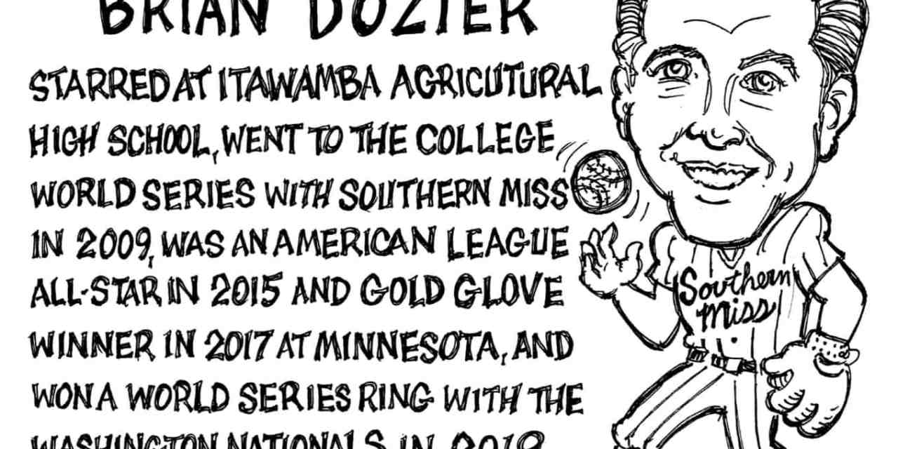 Brian Dozier Cartoon – By Ricky Nobile