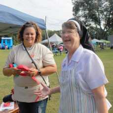 Sister Judy and our Principal, Mrs Lewis, enjoyed the rewards of a wonderful turn out.