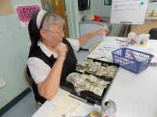 Sister Kathleen sold food which was a great money maker.