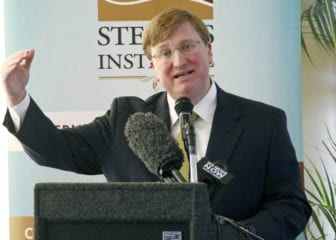 Lt. Gov. Tate Reeves discusses his plans for the 2016 Legislature at the Stennis-Capitol Press forum Jan. 4 in Jackson.