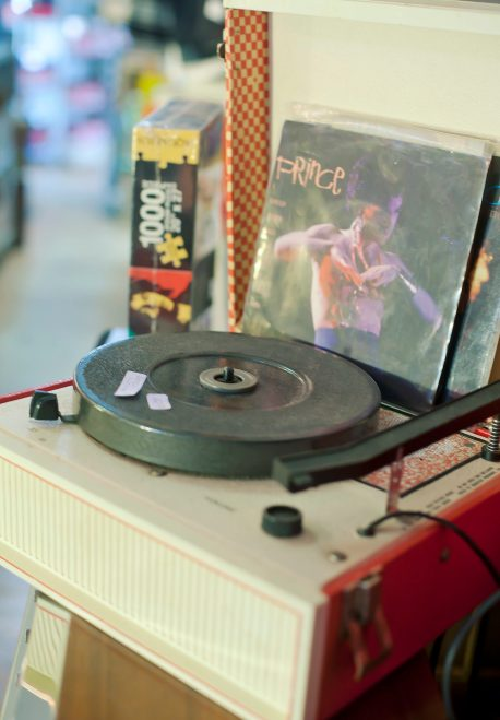 The Little Big Store features nostalgic items, such as this record player.